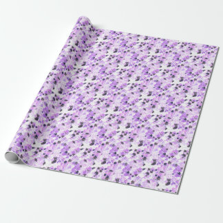 Lavender Thimble Weed Wrapping Paper