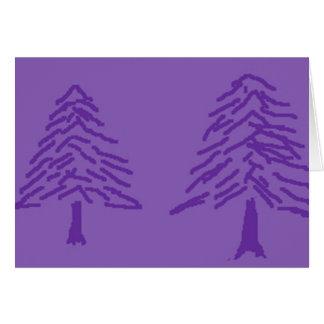 Lavender Tree Doodle Greeting Card