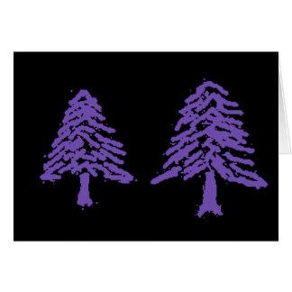 Lavender Tree Doodle V4.0 Greeting Card
