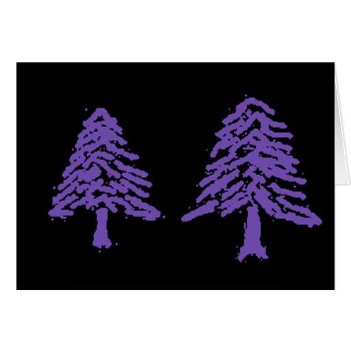 Lavender Tree Doodle V4.0 Card