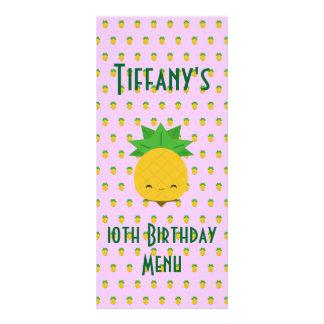 Lavender tropical pineapple rack card