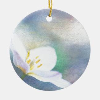 Lavender Tulip Round Ceramic Decoration