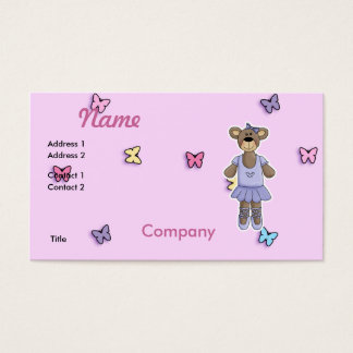 Lavender Tutu Ballerina Bear Business Card