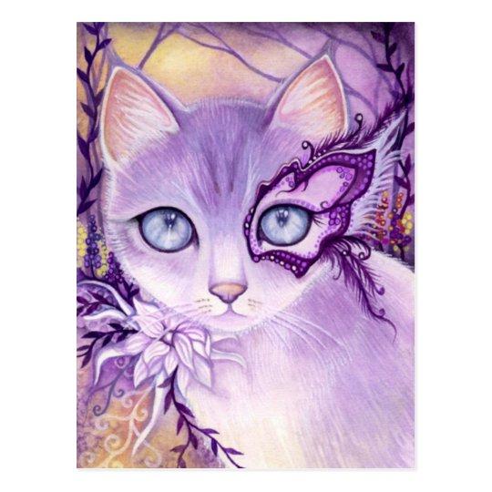 Lavender Venice Night - Postcard
