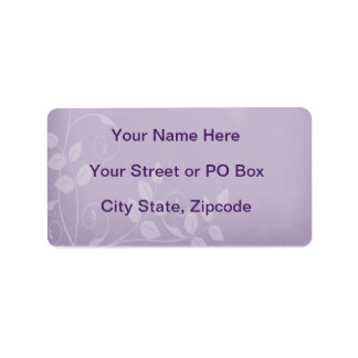 Lavender Vintage Address Label
