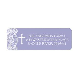 Lavender Vintage Lace Return Address Return Address Label