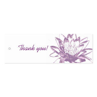 Lavender Water Lily Gift Tags Pack Of Skinny Business Cards