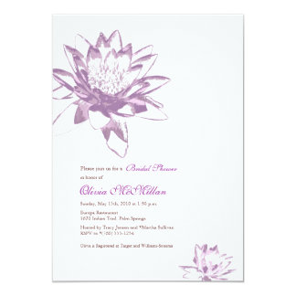 Lavender Water Lily Invitations