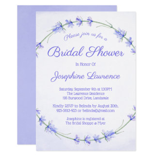 Lavender Watercolor Bridal Shower Invitations
