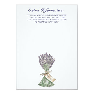 Lavender Wedding Extra Information Card