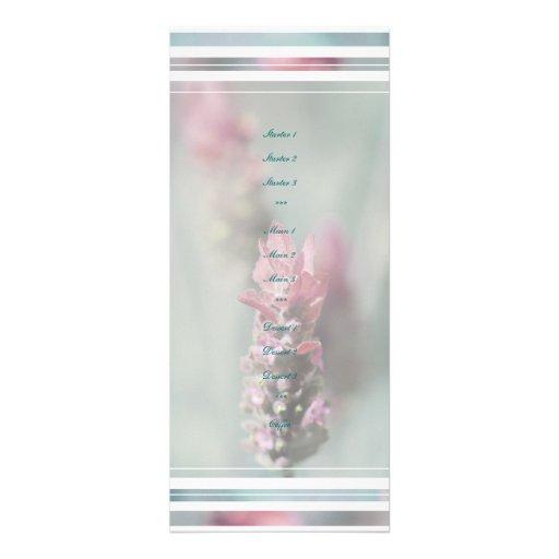 Lavender wedding menus stylish template custom invitations