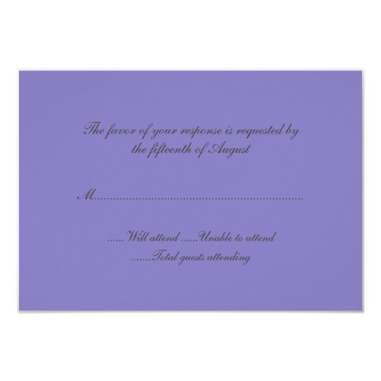Lavender Wedding Response Card