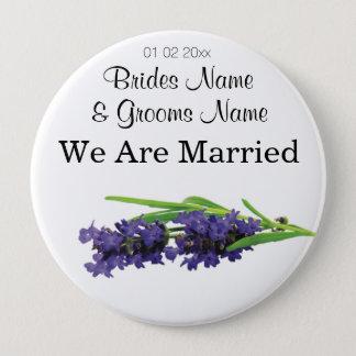 Lavender Wedding Souvenirs Keepsakes Giveaways 10 Cm Round Badge