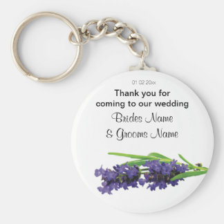 Lavender Wedding Souvenirs Keepsakes Giveaways Basic Round Button Key Ring