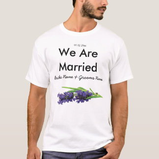Lavender Wedding Souvenirs Keepsakes Giveaways T-Shirt