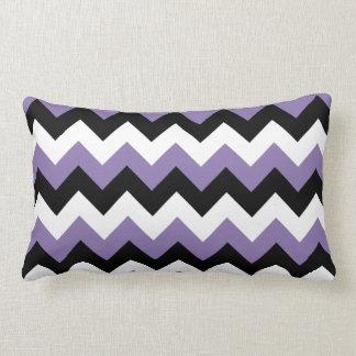 Lavender White Black Zigzag Lumbar Cushion