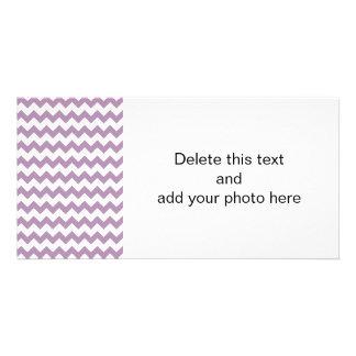 Lavender White Chevron Pattern Photo Card