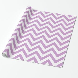 Lavender White XL Chevron ZigZag Pattern Wrapping Paper