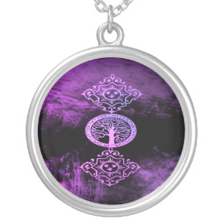 Lavender Wicca Silver Plated Necklace