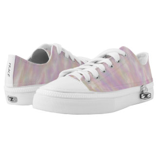 Lavender Wind Pattern Low Top Canvas Shoes Printed Shoes