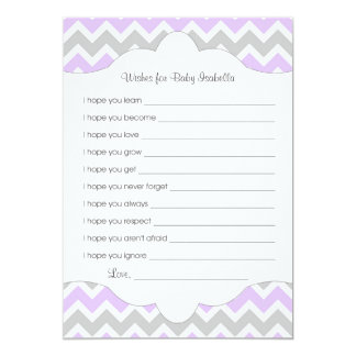 Lavender Wishes for Baby / great baby shower idea 13 Cm X 18 Cm Invitation Card