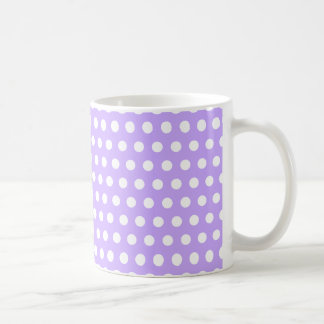 Lavender with White Polka Dots Coffee Mug
