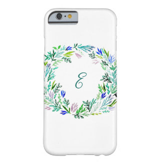 Lavender Wreath Monogram Barely There iPhone 6 Case