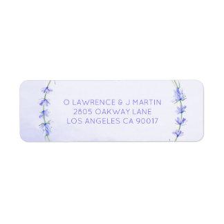 Lavender Wreath Watercolor Return Address Label