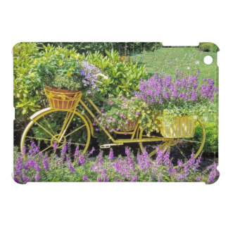 Lavender & Yellow Bicycle Planter Cover For The iPad Mini