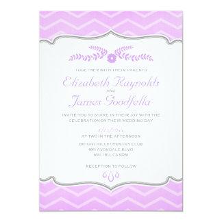 Lavender Zigzag Wedding Invitations
