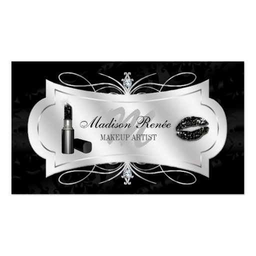 Lavish Ebony Sparkling Cosmetologist Business Card Template