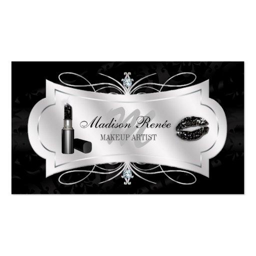 Lavish Ebony Sparkling Cosmetologist Business Card Template