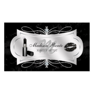 Lavish Ebony Sparkling Cosmetologist Pack Of Standard Business Cards