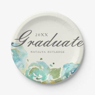 Lavish Florals Graduation Paper Plate