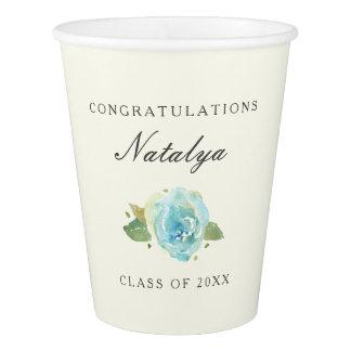 Lavish Florals Personalized Graduation Paper Cup