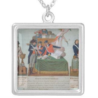 Lavoisier, the Comite de Surete Generale Silver Plated Necklace