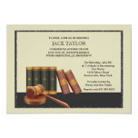 Law Books and Gavel Graduation Invitation 13 Cm X 18 Cm Invitation Card