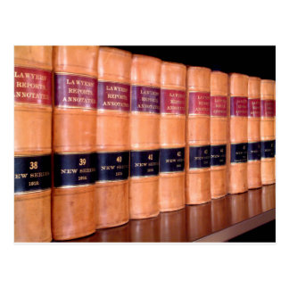 Law Books Postcard