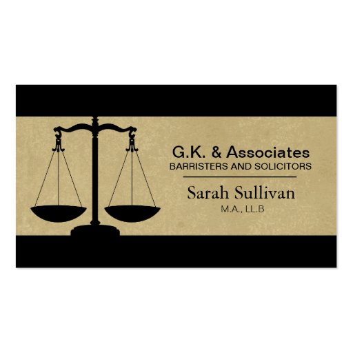 Law Business Card Simple Texture Lawyer Attorney