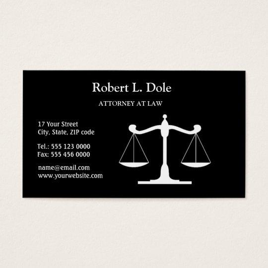 Law Businesscard Black