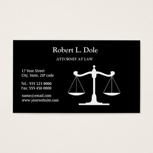 Law Businesscard Black Business Card