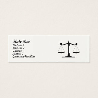Law Businesscard Skinny Mini Business Card