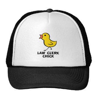 Law Clerk Chick Trucker Hat