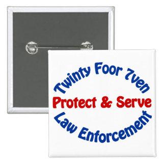 Law Enforcement 15 Cm Square Badge