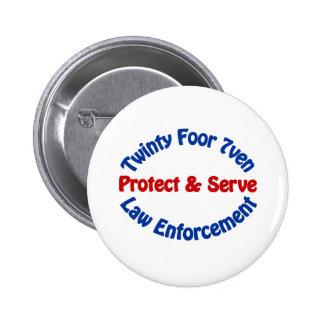 Law Enforcement 6 Cm Round Badge