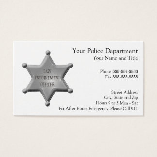 Law Enforcement Business Card