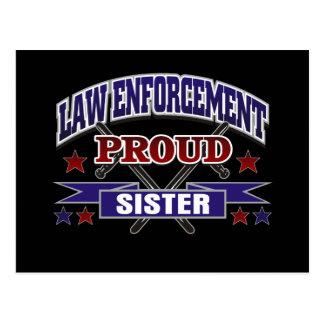 Law Enforcement Proud Sister Postcard