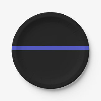 Law enforcement thin blue line plates! paper plate