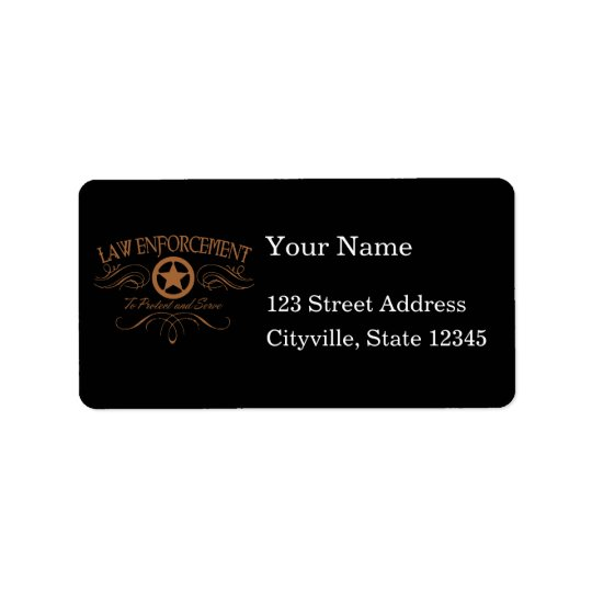 Law Enforcement Western Address Label