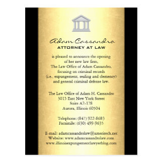Law Firm Announcement Cards